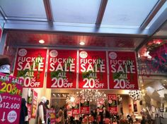 A fuckin' sale? I have no clue what you're selling but count me in! #Engrish #Japan