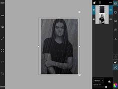 Daarna heb ik de achtergrond vervaagd zodat je het portret weer kan zien