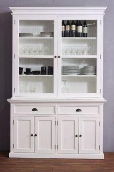 White Kitchen Dresser argentier design moderne troyes coloris chêne espagnol | argentier