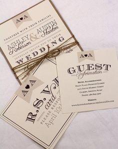Wedding Invitations from http://www.etsy.com/shop/AMGDesignCo?ref=si_shop