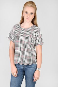 Vantage - Tartan Scollop Top, £10.00 (http://www.vantagefashion.co.uk/tartan-scollop-top/)