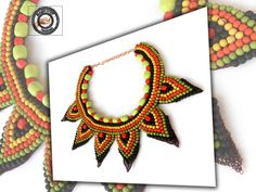 Colier ethno cu howlite Crochet Necklace, Crafty, Handmade, Jewelry, Hand Made, Jewlery, Crochet Collar, Bijoux, Jewerly