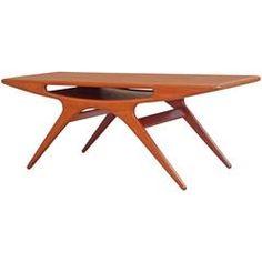 Johannes Andersen, Teak 'Smile' Coffee Table, Denmark, 1957