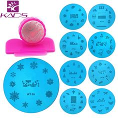 KADS 13 Nail Art Stencils Stamping Template   1 Polish Print Nail Image Plate Stamper Scraper Set Tools *** Be sure to check out this awesome product.