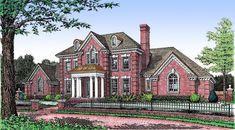 Plan 48065FM: Stately Brick House Plan