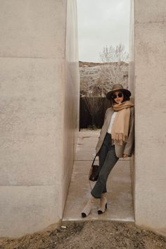 Rag and Bone Blazer with Chanel Boots in Utah | Song of Style