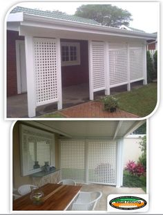 Value Fencing PVC Lattice Screening 2 - I'd like something like this along the garage