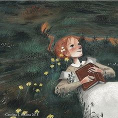 An Unfortunate Lily Maid Anne With An E, Anne Shirley, Illustrations, Cute Illustration, Ghibli, Wallpaper, Art Inspo, New Art, Canvas Wall Art