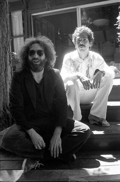 Jerry Garcia and Carlos Santana