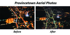 Ptown before & after Recently, we had a small plane photographer retrieve just that perspective on the newly installed LED streetlights in Provincetown, ...
