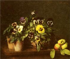 Still Life With Pansies - Henri Fantin-Latour