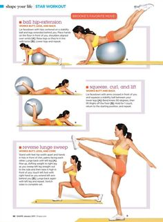 Just did this workout and it was great! For the Butt Physical exercise Out of Bed Workout: Repeat this cycle right when you wake up in th. Sport Fitness, Fitness Diet, Fitness Motivation, Health Fitness, Health Exercise, Physical Exercise, Hip Strengthening Exercises, Workout Exercises, Ball Workouts