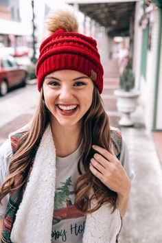 de74c38d88ac6 C Beanies with us at Judson & Company. We have everyone's favorite Messy  Bun style, as well as Confetti, Pom, and The Original style which started  it all!