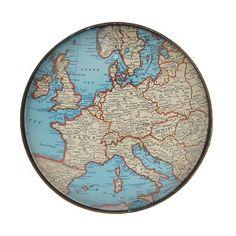 Bouton de meuble carte du monde style vintage