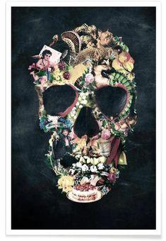 Vintage Skull Poster | JUNIQE
