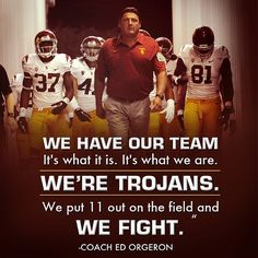 "USC Trojans football! FIGHT ON!! ✌ Vote for The Big ""O"" for our Head Coach!!!"