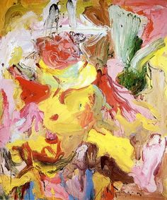 "Willem de Kooning ""La Guardia in a Paper Hat"", 1972 Willem De Kooning, Expressionist Artists, Abstract Expressionism, Abstract Art, Abstract Paintings, Jackson Pollock, Pop Art, Action Painting, Henri Matisse"