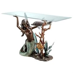 mermaid coffee table base wwwrmaidhomedecor - mermaid