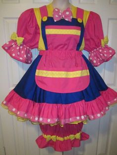 Cotton Blend Clowns & Circus Costumes for Women Clown Outfits, Clown Costumes, Clown Clothes, Circus Costume, Circus Clown, Clown Dress, Cute Clown, Send In The Clowns, Clowning Around