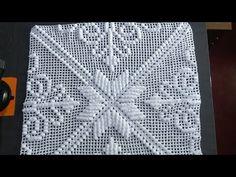 Crochet Bedspread Pattern, Granny Square Crochet Pattern, Crochet Diagram, Crochet Squares, Crochet Blanket Patterns, Freeform Crochet, Crochet Motif, Crochet Designs, Crochet Stitches