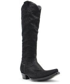 Old Gringo Mayra Black Hair on Hide Boots