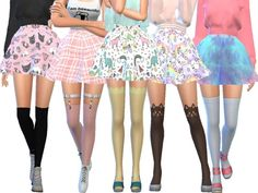 17 adorable and cute skater skirts. Found in TSR Category 'Sims 4 Female Everyday'