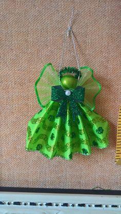 green ribbon angel