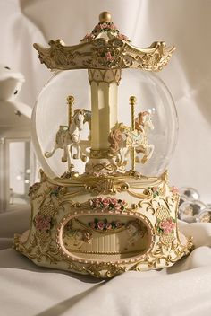 Both the carousel and the snow globe want it in a combination ! Both the carousel and the snow globe want it in a combination !