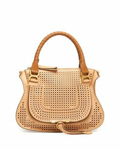 Marcie Perforated Medium Shoulder Bag, Tan by Chloe at Neiman Marcus.  Love Love Love