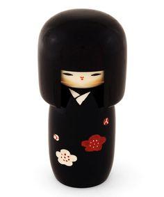 Black Kokeshi Doll