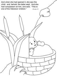 Baby Moses Coloring Page - √ 24 Baby Moses Coloring Page , Birth Coloring Pages Puppy Coloring Pages, Fish Coloring Page, School Coloring Pages, Adult Coloring Book Pages, Alphabet Coloring Pages, Free Printable Coloring Pages, Bible School Crafts, Bible Crafts For Kids, Bible Lessons For Kids