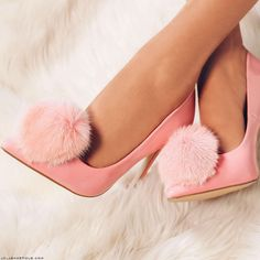 Privileged Playboy Pom Pom Pointed Toe Heels