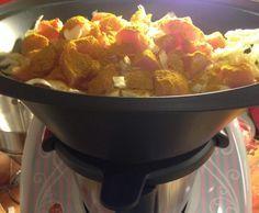 Rezept Spitzkohl-Hähnchen-Curry (Schlankr) von iratecherub - Rezept der Kategorie Hauptgerichte mit Fleisch