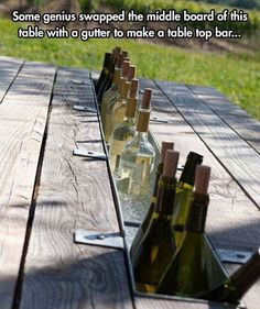 Swap the middle with a gutter to make a bar in the middle