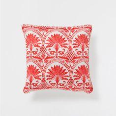 CORAL PALM TREE PRINT CUSHION - Decorative Pillows - Decor and pillows   Zara Home United States