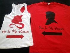 Disney Rapunzel and Flynn Couples Shirts by 4everBigRedCreations, $38.00  OH MY GOODNESS!