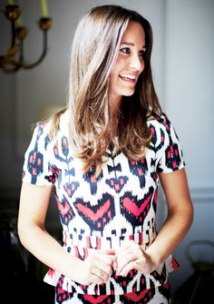 pippa middleton. Pippa wearing an Alice by Temperley ikat dress. I love this picture!