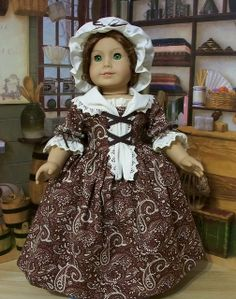 Chocolate Paisley Day Dress Ensemble by Keepersdollyduds, via Flickr