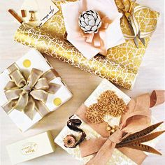#Holiday wrapping in #silver and #gold