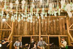 green wedding shoes | reception | barn venue | paper decor | wedding band | wedding photography