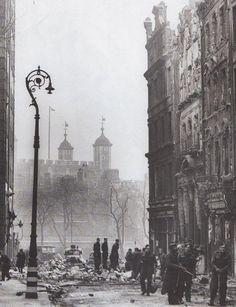 East London bombed,