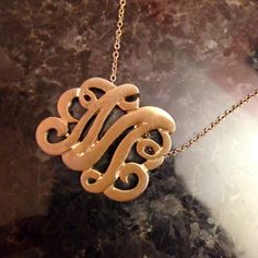 What Would Megan Wear: Fall Colors - monogram necklaces