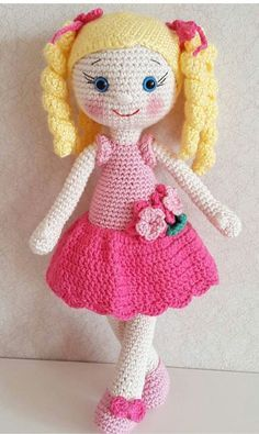 Sweet little crochet doll base