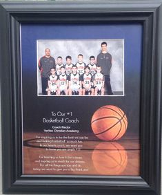 Thank you so much for visiting my Shop!    To Our (or My) # 1 Basketball Coach  Personalized Gift   Purchase any Three 8x10s and get one