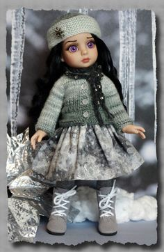 **Whispers of Winter**... a sweet 5 PC ensemble in shades of silver for #Tonner #Patsy or Ann Estelle dolls by KarmelApples #Etsy