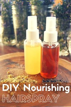 DIY Nourishing Hairspray | SimplePureBeauty.com