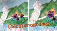 MAGICAL JUNGLE - Como usar tinta e lápis de cor juntos | Luciana Queiróz