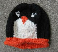 SALE Penguin hat  - for toddlers! Would make a CUTE Christmas gift for your favorite Penquin ! $15