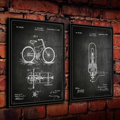 ''Edison Bulb and Cycle'' 2-piece Framed Wall Art Set ($97) ❤ liked on Polyvore featuring home, home decor, wall art, black, framed wall art, black home decor, black wall art, black framed wall art and 2 piece wall art