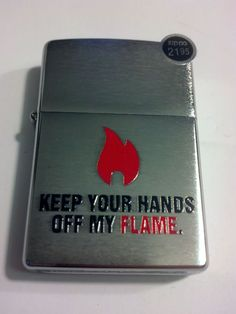 2014 New Design Keep Your Hands Off Brushed Chrome Zippo Lighter #28649